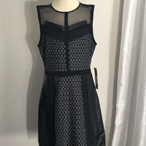 Rachel Roy faux leather cocktail dress